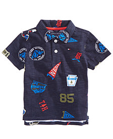Tommy Hilfiger Baby Boys Banner Printed Cotton Polo Shirt