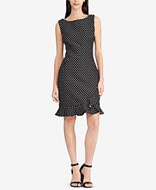 American Living Ruffled Jacquard Dress