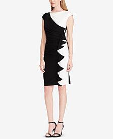 American Living Two-Tone Ruffled Dress