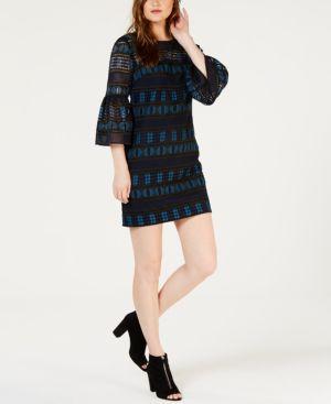 Trina Turk Bell-Sleeve Crochet Dress 6804259