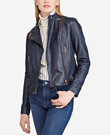 Lauren Ralph Lauren Leather Biker Jacket