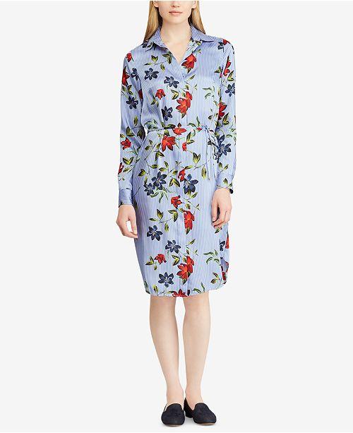 ce410ed72565b Lauren Ralph Lauren Floral-Print Twill Shirtdress   Reviews ...
