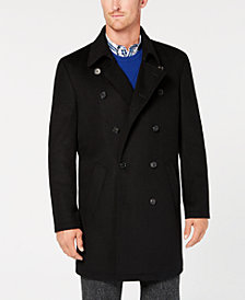 Ryan Seacrest Distinction™ Men's Modern-Fit Black Overcoat, Created for Macy's