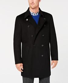 Ryan Seacrest Distinction™ Men's Modern-Fit Black Overcoat, Created for Macy's