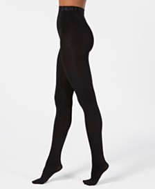 DKNY Control-Top Cozy Opaque Tights