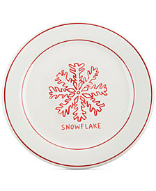 CLOSEOUT! Home Essentials Molly Hatch Snowflake Dessert Plate