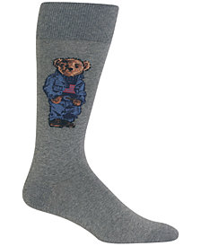 Polo Ralph Lauren Men's Denim Bear Crew Socks