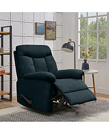 ProLounger Lamarc Wall Hugger Medium Blue Microfiber Recliner