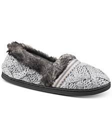 Isotoner Signature Trellis Tessa Sweater-Knit Slippers with Memory Foam