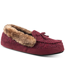Isotoner Signature Women's Tweed Paige Moccasin Slippers