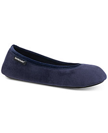Isotoner Signature Victoria Stretch Velour Ballerina Slippers with Memory Foam