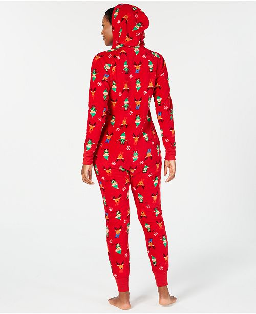 64d07ca99a Family Pajamas Matching Women s Elf Hooded One-Piece