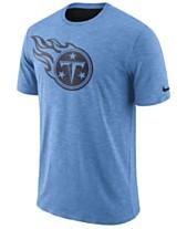new arrival 4f233 db646 Nike Men s Tennessee Titans Dri-Fit Cotton Slub On-Field T-Shirt