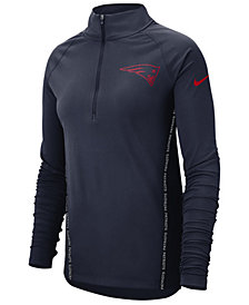 Nike Women's New England Patriots Element Core Quarter-Zip Pullover