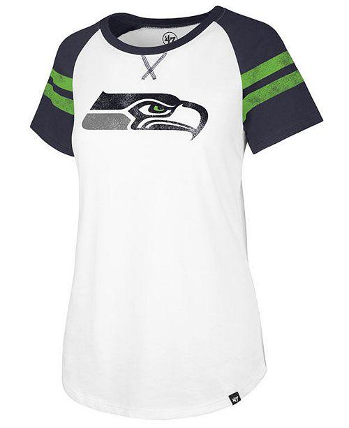 '47 Brand Women's Seattle Seahawks Flyout Raglan T-Shirt