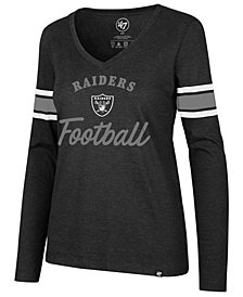 '47 Brand Women's Oakland Raiders Spirit Script Long Sleeve T-Shirt