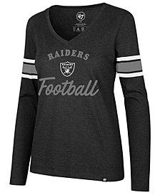 '47 Brand Women's Oakland Raiders Spirit Script Long Sleeve T-Shirt