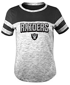 5th & Ocean Oakland Raiders Space Dye Glitter T-Shirt, Girls (4-16)