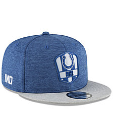 New Era Indianapolis Colts On Field Sideline Road 9FIFTY Snapback Cap