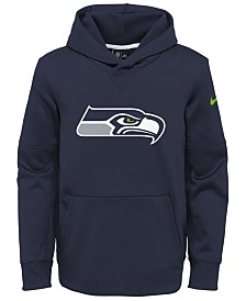 Nike Seattle Seahawks Circuit Logo Hoodie, Big Boys (8-20)