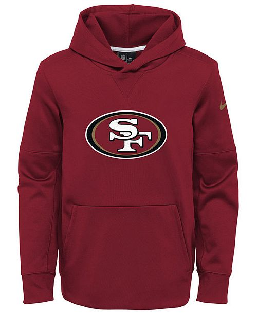 Nike San Francisco 49ers Circuit Logo Hoodie, Big Boys (8-20)