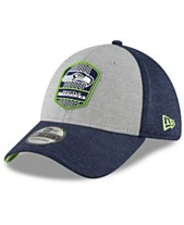 c02f7f53bf1f18 New Era Seattle Seahawks On Field Sideline Road 39THIRTY Stretch Fitted Cap