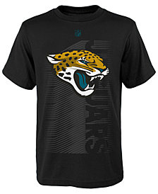 Outerstuff Jacksonville Jaguars Poly Jump Speed T-Shirt, Big Boys (8-20)