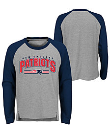 Outerstuff New England Patriots Audible Long Sleeve T-Shirt, Big Boys (8-20)
