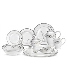 Lorren Home Trends Viola 57-Pc. Dinnerware Set, Service for 8