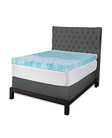"SensorGel 4"" Gel Swirl Memory Foam Twin Mattress Topper"