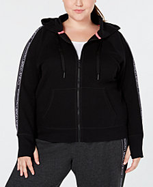 Calvin Klein Performance Plus Size Relaxed Zip Hoodie