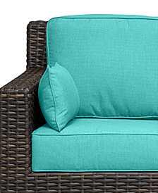 Viewport Outdoor Sofa Replacement Sunbrella® Cushion, Quick Ship