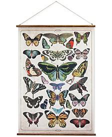 Burlap & Wood Scroll Wall Decor with Butterflies