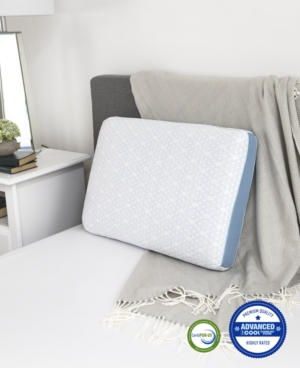 Image of Advanced iCOOL Gel-Infused Memory Foam Gusset Standard Pillow, Created for Macy's