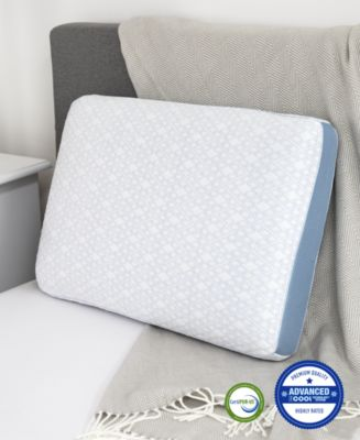 Advanced iCOOL Gel-Infused Memory Foam Gusset Standard Pillow, Created for Macy's