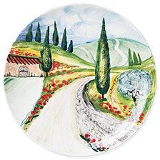Vietri Landscape Vineyard Round Wall Plate
