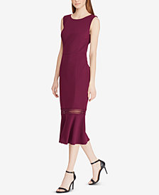 Lauren Ralph Lauren Crepe Flounce Dress