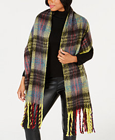 Steve Madden Plaid Fringe Wrap