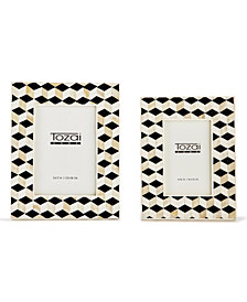 Geometrics Set of 2 Photo Frames Includes 2 Sizes