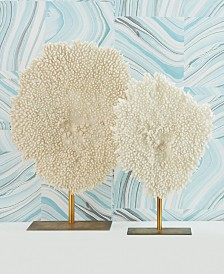 Two's Company Coral Sculptures, Set of 2