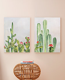 Sonoran Scenery Set of 2 Cacti HandPainted Wall Art