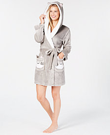 Jenni Hooded Cat Wrap Robe, Created for Macy's