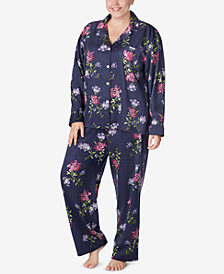 Lauren Ralph Lauren Plus Size Long-Sleeve Pajamas