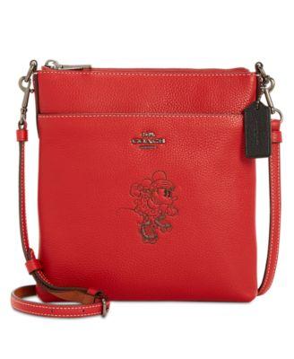 coach minnie motif messenger crossbody in pebble leather handbags rh macys com