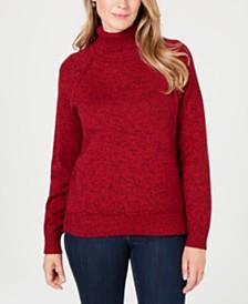 Karen Scott Petite Cotton Turtleneck Sweater, Created for Macy's