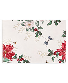 "Lenox Butterfly Meadow Poinsettia 13"" x 18"" Placemat"