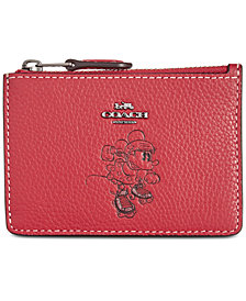 COACH Minnie Mini ID Boxed Skinny Wallet