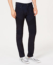 I.N.C. Men's Slim-Straight Fit Stretch Corduroy Moto Jeans, Created for Macy's