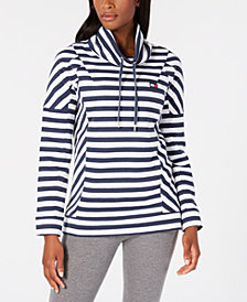 Tommy Hilfiger Striped Funnelneck Top