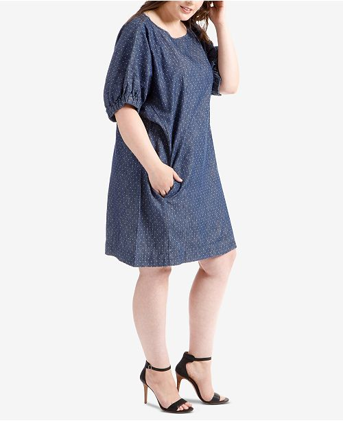 Lucky Brand Plus Size Chambray Dress & Reviews - Dresses ...